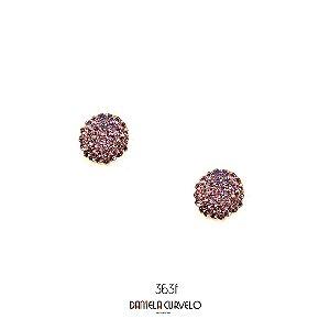 Brinco Redondo  Lilás - BF363LL