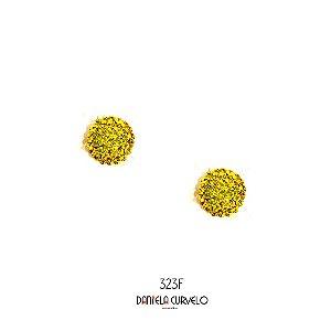 Brinco Redondo Amarelo Citrine - BF323AM