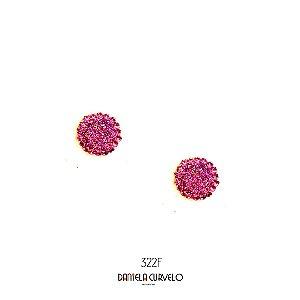 Brinco Redondo Rosa - BF322RO