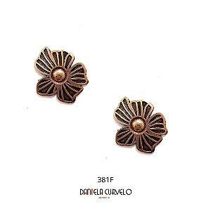 Brinco Bronze Flor - BF381BZ
