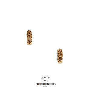 Brinco Fileira Strass Dourado BF401DR