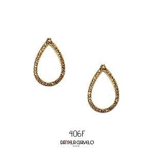 Brinco Gota Dourada  - BF406DR