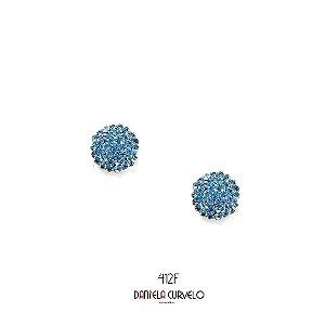 Brinco Redondo Azul Claro - BF412AC