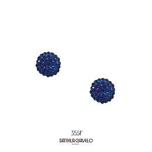Brinco Antialérgico Redondo Azul Royal -  BFA255AZ