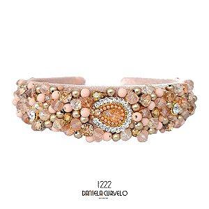 Tiara de Luxo Larga Rosê - T222