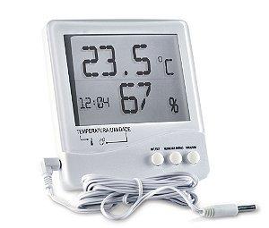 Termo Higrômetro Digital Temperatura Interna e Externa e Umidade Interna 7663.02