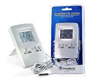Termômetro Digital para Mapa máx e min com alarme e Cabo 1,7m