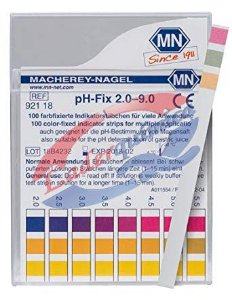 Tira para PH PH FIX 2.0-9.0 C/ 100 Unid. Marca M.Nagel
