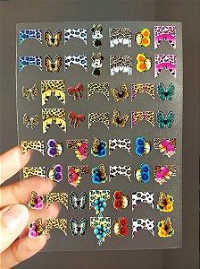 Cartelão 3D - ONCINHA 01 - 56 Adesivos