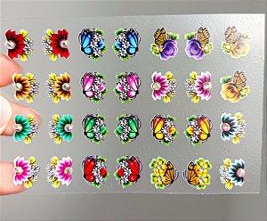 Cartelão 3D - Glamour01 - 28 Adesivos