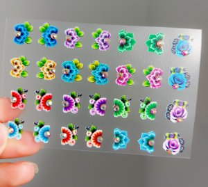 Cartelão 3D - Glamour02 - 28 Adesivos