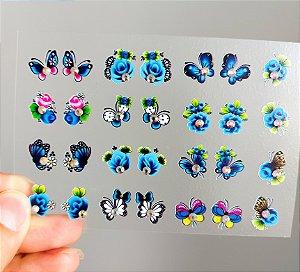 Cartelão 3D - Glamour03 - 28 Adesivos
