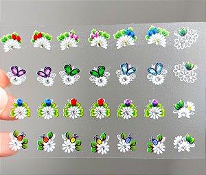 Cartelão 3D - Glamour04 - 28 Adesivos