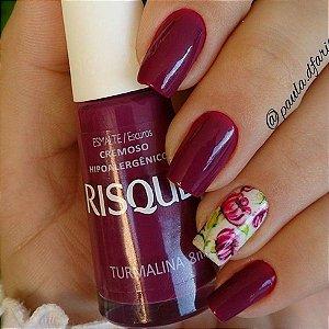 Adesivos de Unha Estampa Flores Violeta - FL68