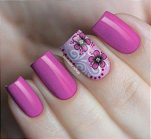 Adesivos de Unha  Flores Rosa - FL82