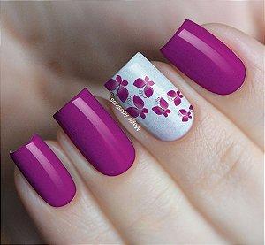 Adesivo de Unhas Borboletas Rosa - BR01