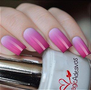 Adesivos de Unha Efeito Degradê Branco para Pink - DG07
