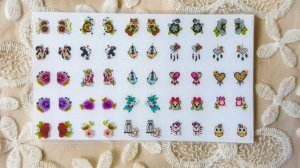Cartelão Adesivos de Unha 3D - variados - 50 adesivos