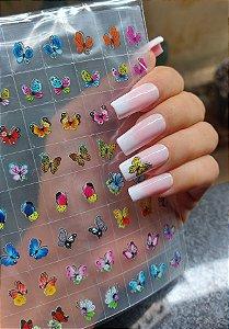 Cartelão 3D - borboletas - 56 Adesivos
