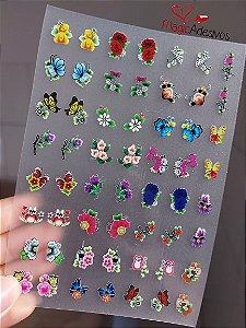 Cartelão 3D - Variados - 56 Adesivos
