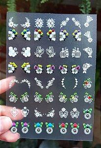 Cartelão 3D - FLORES 07 - 56 Adesivos