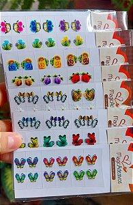 Adesivos de Unhas 3D Para Revender - Pacote Com 50 Cartelas