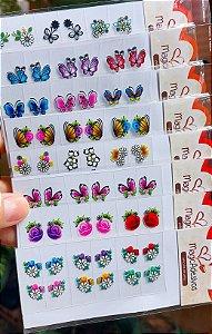 Adesivos de Unhas 3D Para Revender - Pacote Com 100 Cartelas