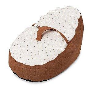 Puff Ninho Descanso Para o Bebê  Bege Estampado - Baby Pil - PF003