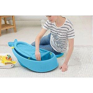 Banheira Infantil Baleia Moby 3 Estágios Azul - Skip Hop - BUP3647