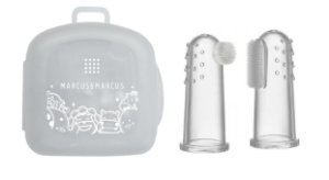 Kit com 2 dedeiras em silicone com caixa armazenagem Marcus Marcus - MNMRC01