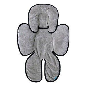 Almofada para Bebê Conforto Cinza Preto Clingo - C2114