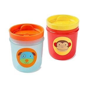 Kit 2 Copos Zoo Macaco e Cachorro Skip Hop  BUP3952