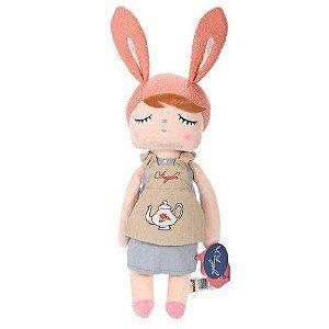Boneca Angela Metoo Doceira retro Bunny Rosa - 33cm - BUP2064