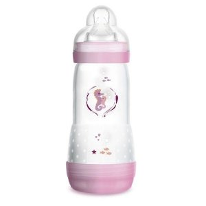 Mamadeira First Bottle /Easy Start Autoesterilizável MAM 320ml - Rosa - 4678CAVA