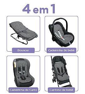 Almofada para Carrinho de Bebês 4 em 1 Cinza Escuro Dooky - 1305