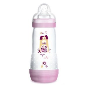 Mamadeira First Bottle /Easy Start Autoesterilizavel Mam 320ml - Rosa - 4678rsga