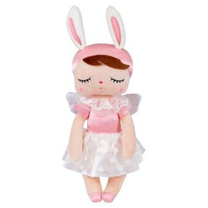Boneca Angela Metoo Angel Rosa 33cm - BUP3207