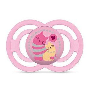 Chupeta Perfect Girls 6+ Meses Gatos Rosa- 2892RSGATOS