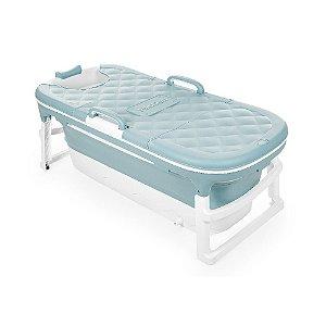 Banheira Extra Grande  Azul Dobrável Com Plug Térmico Babapil - BNXGA