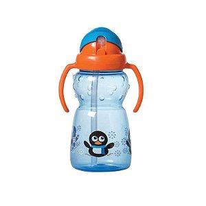 Copo Com Alça e Canudo 350ml Pinguim Girotondo Baby - RK032AZ