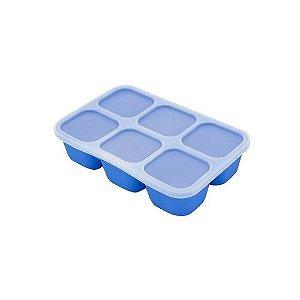 Forma Para Congelar Papinha Azul  Hipopótamo - MNMBB14-HP