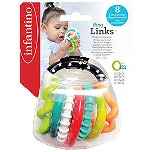 Chocalho De Anéis Infantino Texturizados 2x1 Função Mordedor- BUP3303
