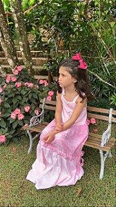 V000571 - VESTIDO INFANTIL TRICOLOR MIX ROSA