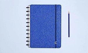 Caderno Inteligente - Glitter Blue Grande