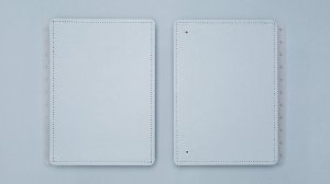 Capa e Contracapa Azul Pastel - Grande| Caderno Inteligente