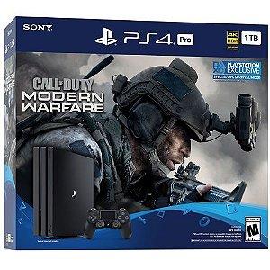 Console PS4 Pro 1TB Call of Duty Modern Warfare Bundle CUH7215B - Sony