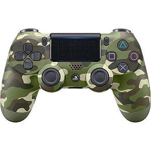 Controle Dualshock 4 Sem Fio Verde Camuflado - Sony