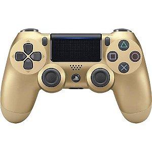 Controle Dualshock 4 Sem Fio Dourado - PS4