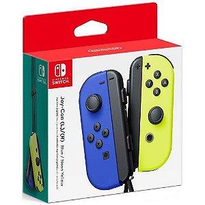 Controle Joy-Con L/R Blue/ Neon Yellow - Switch