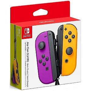 Controle Joy-Con L/R Neon Purple/ Neon Orange  - Switch
